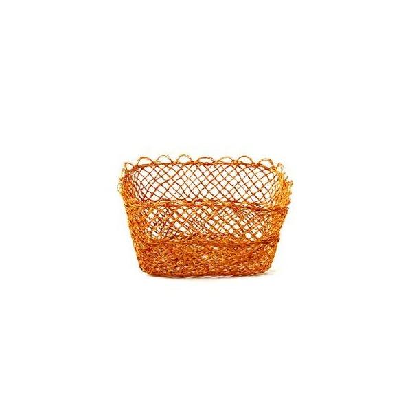 Ekmek Sepetleri Kanca Ev Ince Hasir Sepet Küçük Turuncu